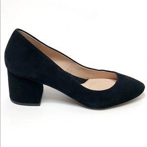 Taryn Rose Rochelle black suede block heels